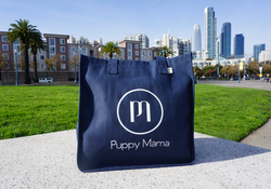 Navy Blue econscious Stylish Puppy Mama Tote Bag - Shop dog mom apparel and doodle mom gifts online!