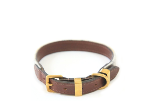The Otis Sand Shetland Wool Dog Collar