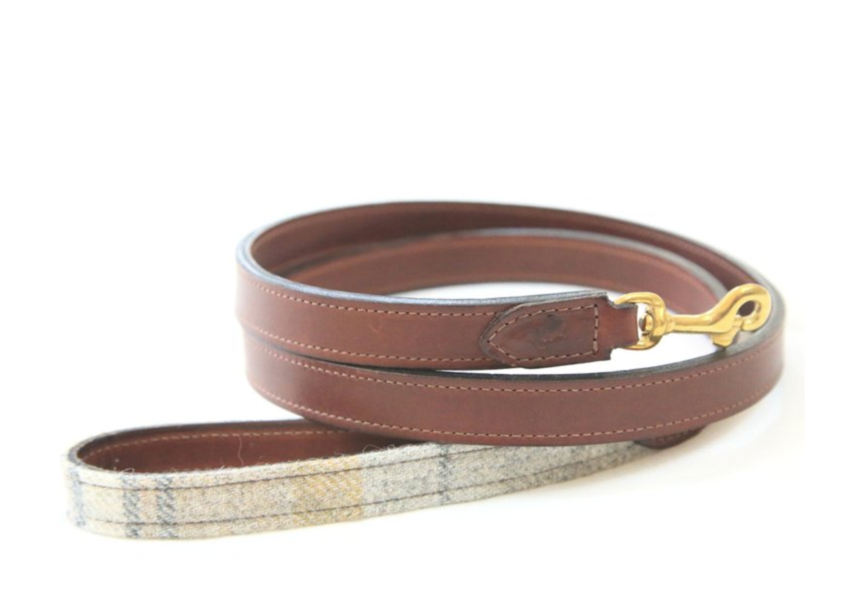 'The Otis' Sand Shetland Wool Dog Leash