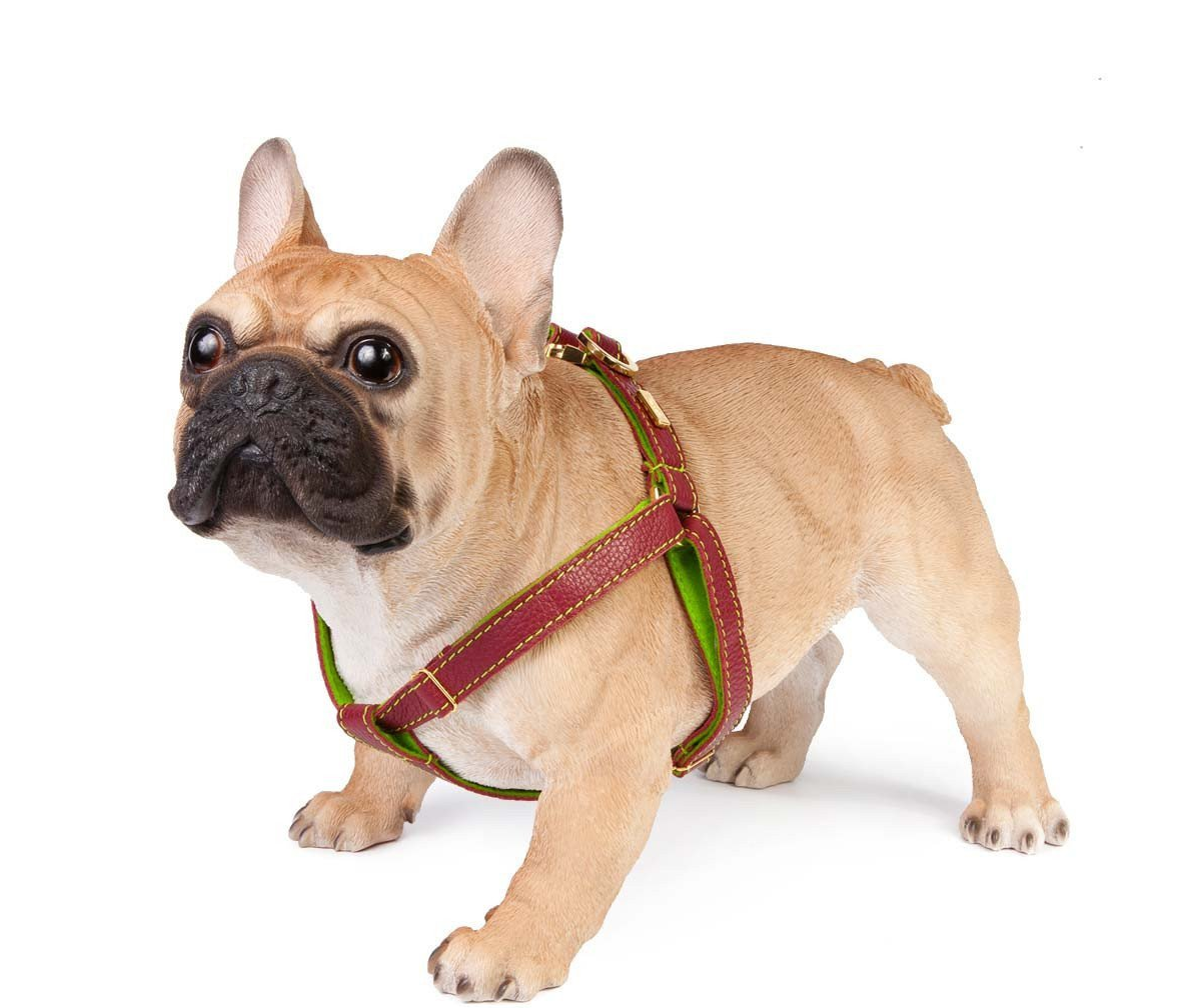 Dog Harness - Red Soft Leather Dog Harness & Wool Lining – Puppy