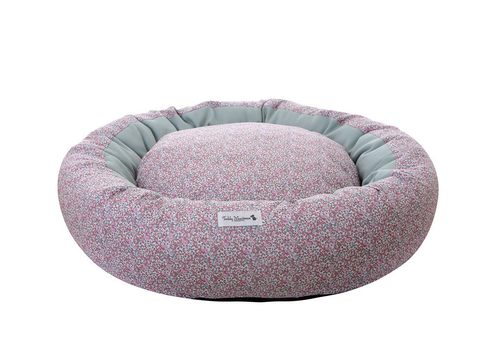 Pink Liberty Print Cocoon Dog Bed