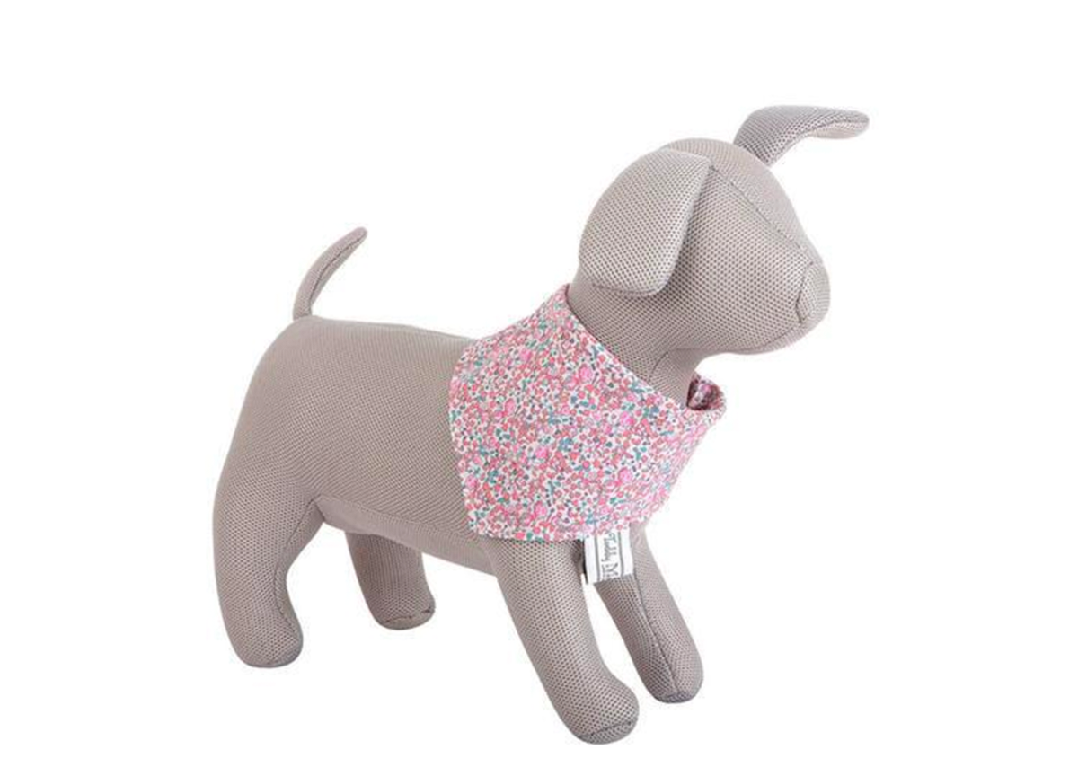 Pink Floral Dog Bandana - Style for your Bull Terrier!