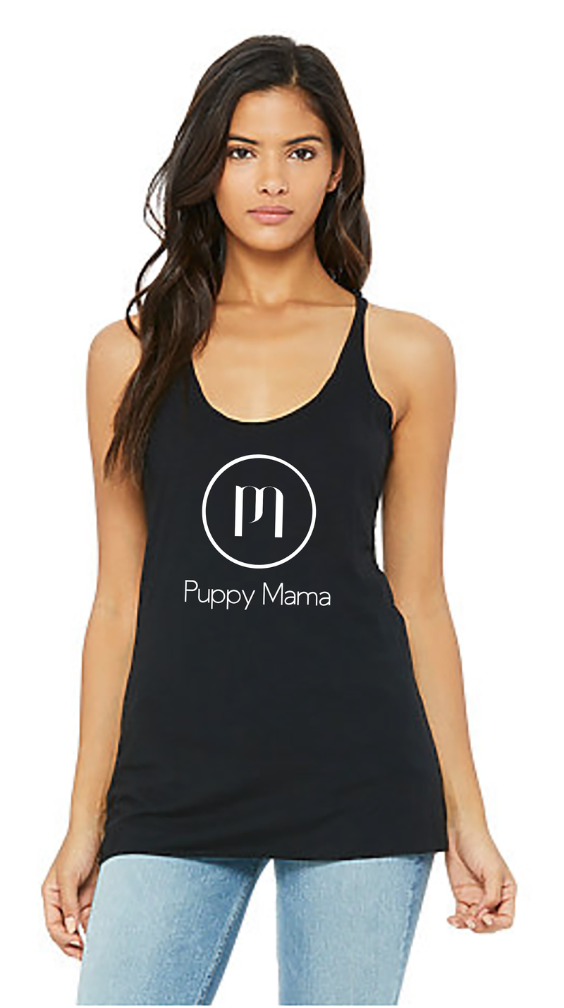 Black Puppy Mama Tank Top (Wholesale Only) - Shop dog mom apparel and doodle mom gifts online!