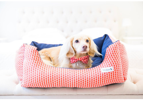 Holiday Red Dog Bed - the perfect Holiday Gift!