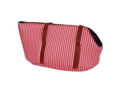 Holiday Red Luxury Dog Carrier - the perfect Holiday Gift!