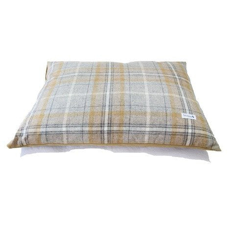 Sand Shetland Wool Luxury Large Dog Bed Cushion