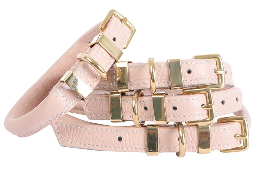 'The Rose' Pink Dog Collar