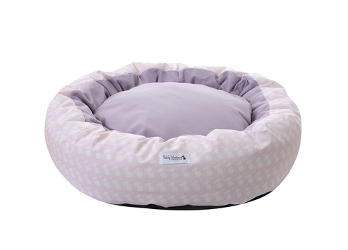 Pink Signature Print Cocoon Dog Bed