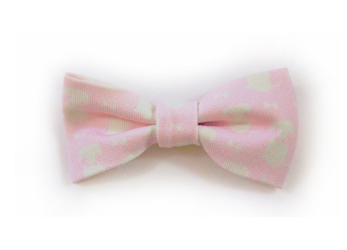 Pink Signature Print Dog Bow Tie