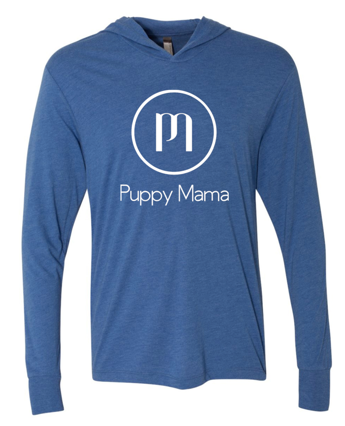 Puppy Mama Hoody - Vintage Royal (Wholesale Only) - Shop dog mom apparel and doodle mom gifts online!