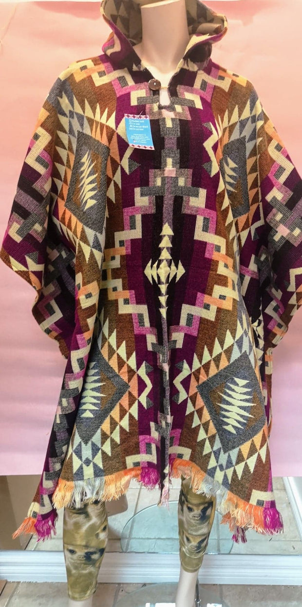 Indigenous fair trade ponchos#177