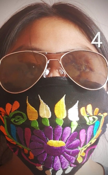 Custom Made Embroidered Face Masks. #0031