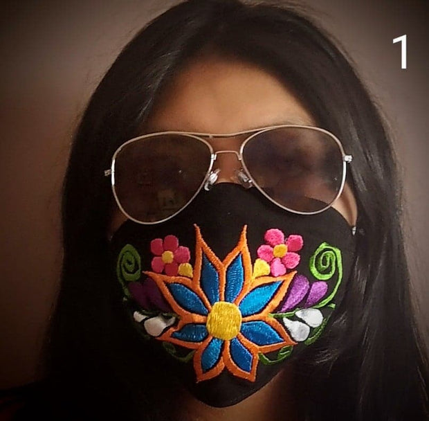 Custom Made Embroidered Face Masks. #0028
