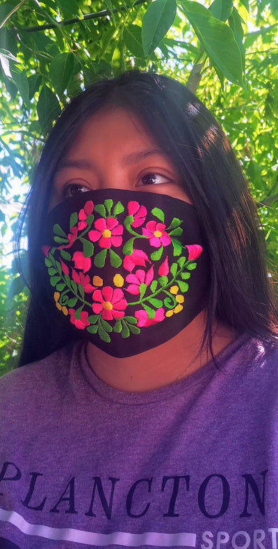 Custom Made Embroidered Face Masks # 00049