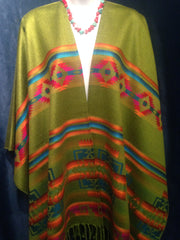 Southwestern Native Design Shawl, Poncho