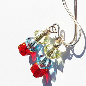 Multi color Autism Earrings for Woman
