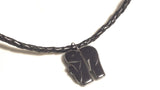 Men's Leather Necklace with Elephant