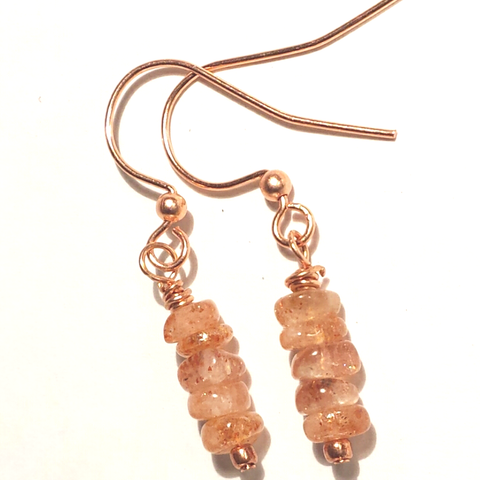 Dainty Sunstone Earrings As Seen on Jane The Virgin