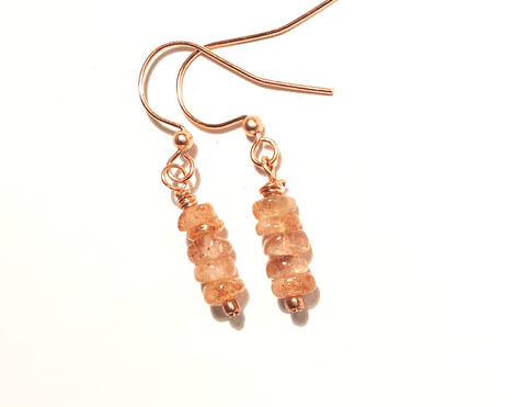 sunstone earrings as seen on Jane the Virgin