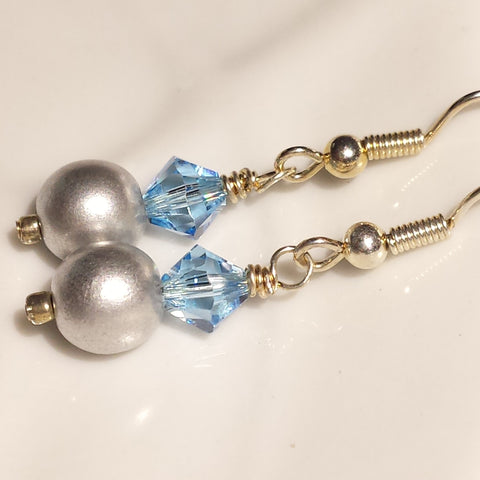 Silver Pearl Swarovski Dangles As Seen on Jane The Virgin Season 4