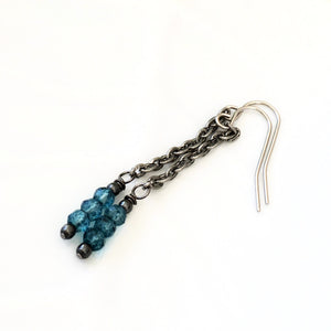 Blue Quartz Long Earrings for Women