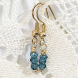 Dainty Blue Quartz Earrings As Seen on ABC's Baby Daddy