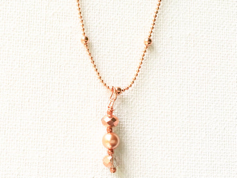 Rose Gold Tone Necklace, Necklace - DTailsULike