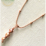 Rose Gold Pearls Necklace As Seen in Law and Order SVU Season 18 finale