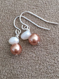 Warm Taupe Pearls Earrings