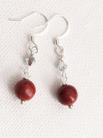 Sparkly Red Dangles