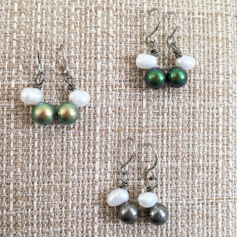 Pearls Love Dangle Earrings As seen in The Emmy's celebrities Swag Bag