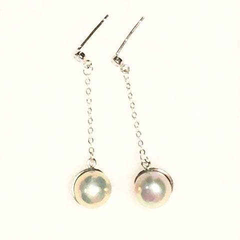 Cultured Freshwater Pearl Earrings for Bride Wedding Jewelry