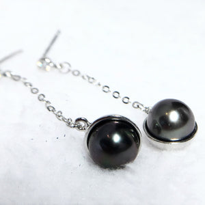 Exotic Black Pearl Earrings