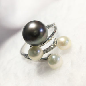 Statement Pearl Ring for Women