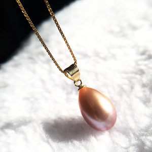 Cultured Freshwater Teardrop Pearl 14kt Pendant Necklace