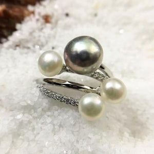 Elegant Freshwater Pearl Ring Statement Jewelry for Women