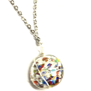 Multicolor Murano Glass Pendant Necklace