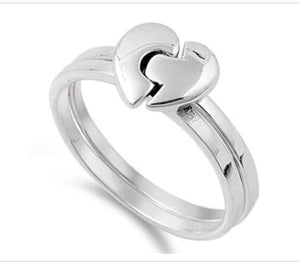 Puzzle Heart Ring
