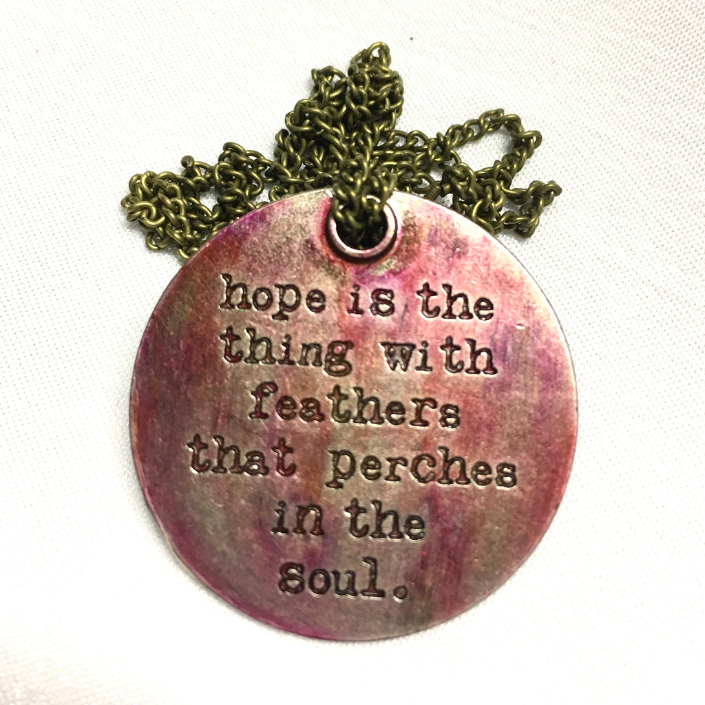 Red Motivational Pendant Necklace