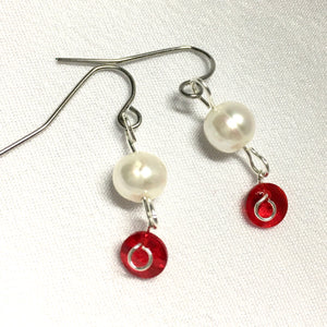 Red Joy Holiday Earrings