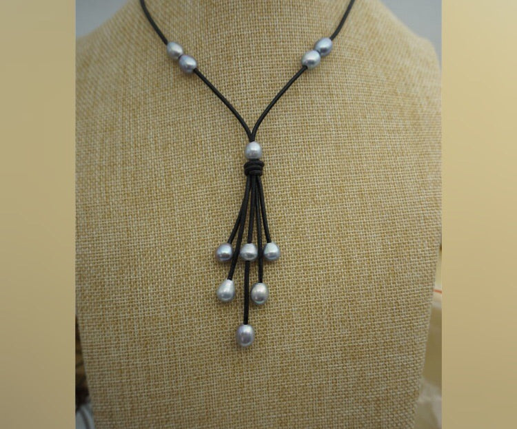 Gray Freshwater Pearls Cascade