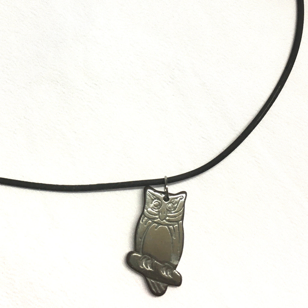 Owl Rubber Necklace