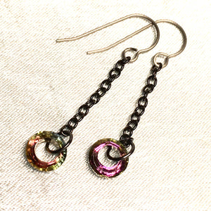 Crystal Circle Drop Earring