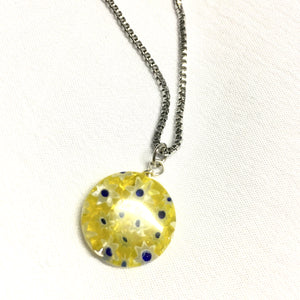 Colorful Flower Pendant Necklace