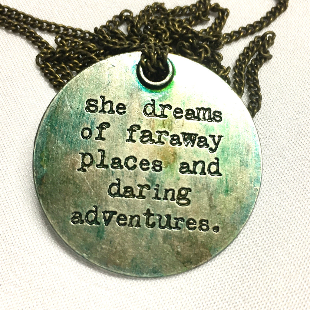 Motivational Message Pendant Necklace