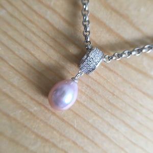 Pink Freshwater Pendant Necklace