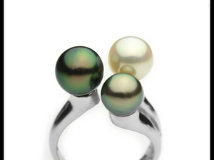 Triple Pearl Sterling Silver Ring