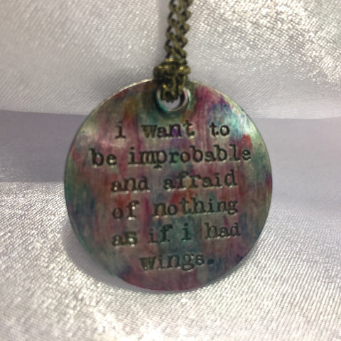 Multicolored Inspirational Pendant Necklace