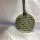 Inspirational Message Brass Necklace