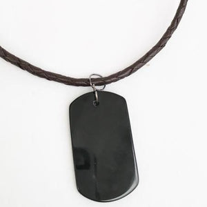 Men's Onyx Dog Tag